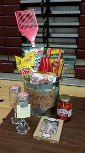 redneck basket redneck gifts auction items silent auction pta office gifts