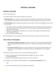Chronological Resume Templates Free Reverse Chronological Resume ...