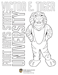 Fort Hays State University Tiger Color Pages