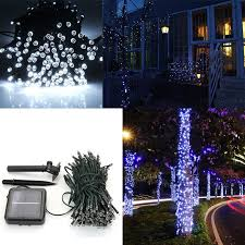 brand new 100 led solar powered fairy lights string 2 no wiring needed powered by solar energy 3 led light can keep glowing for about 8 hours a night after