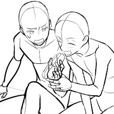 相手のパンを食べようとしている和気あいあいとした二人のトレスフリー