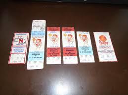Details About 6 Vintage Nebraska Basketball Tickets Including Full Tickets