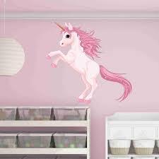 pretty pink unicorn wall decal on pretty wall art decor with kids room wall decor kids wall art wall stickers for kids