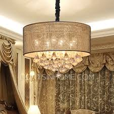 bronze crystal drum chandelier leandrocortese intended for elegant property crystal drum chandelier ideas