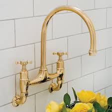Perrin And Rowe Kitchen Faucet Ionian Wall Mounted Taps With Crosshead Handles Perrin And Rowe