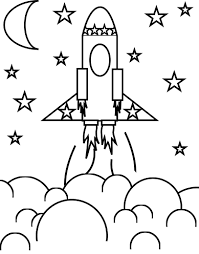Small Picture For Kids Rocket Coloring Page 17 For Your For Kids with Rocket