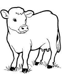 Big Cow Free Coloring Pages â Farm Animals Coloring Pages Free