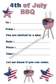 Fourth Of July Invitations July 4th Invitations