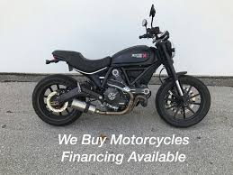 ducati scrambler full throttle deep black motorcycles for sale