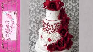 Red Red Rose Wedding Cake Youtube