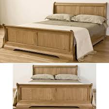 french solid oak 6 super king size sleigh bed co uk kitchen home