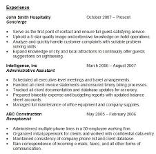 Resume Experience Sample Fascinating Resume Experience
