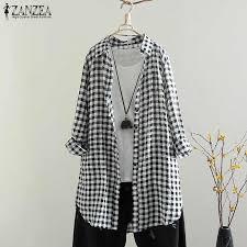 2019 Fashion ZANZEA Autumn <b>Spring Long</b> Sleeve Shirts Women ...