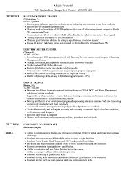 Driver Trainer Sample Resume Driver Trainer Resume Samples Velvet Jobs 1
