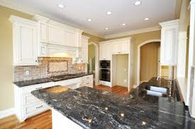 image of black and white granite kitchen counters
