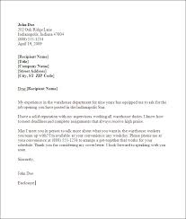 Warehouse Cover Letter For Resume 9 Sample Position With Ucwords