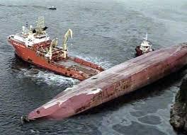 Организация обеспечения непотопляемости водного транспорта Опрокинутое судно