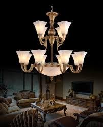 Großhandel Kupfer Marmor Kronleuchter Hochwertige Luxus Edle Amerikanischen Europäischen Stil Kronleuchter Beleuchtung Wohnzimmer Esszimmer Hotel