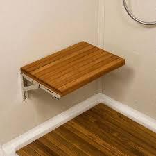 fold down shower seat teakworks4u wall mount fold down teak shower bench mounts directly