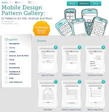 Mobile Design Patterns Book Ux Rave Looks Like An Awesome Mobile Design Pattern