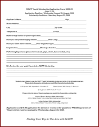 Scholarship Aplication Form Download Sample Scholarship Application Form Free Download