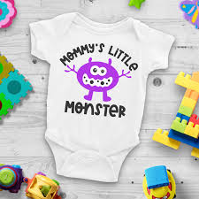 The onesie is not great quality and gets misshapen after being washed a couple times. 15 Free Baby Svg Files Including Mommy S Little Monster