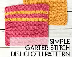 Easy Knit Dishcloth Pattern Fascinating Knitted Dishcloth Pattern PDF Download Farmhouse Kitchen