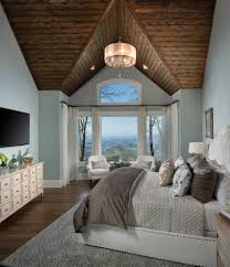 traditional master bedroom. Traditional Master Bedroom Ideas With Mountain Home Seating Area Tufted Platform Bed R