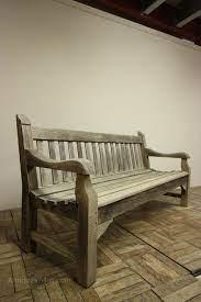 english antique teak garden bench