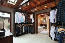 lighting for walk in closet. Masculine Walk In Closet With Track Lighting : Offer A Good Storage Option For