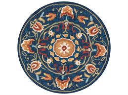 loloi rugs francesca fc 54 3 0 round blue e area rug fracfc 54bbsq rou