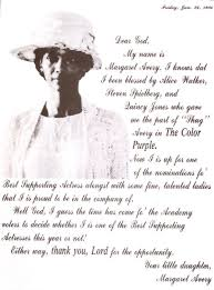Color Purple Quotes Magnificent Margaret Avery God 'The Color Purple' Oscar Controversy