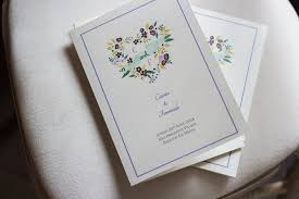 30 of the best ceremony booklet ideas weddingsonline Wedding Booklet floral print wedding ceremony booklet wedding booklet templates