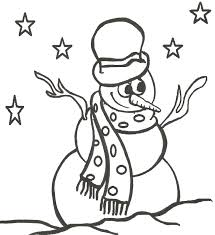 Small Picture Coloring Pages Printable Snowman Coloring Pages