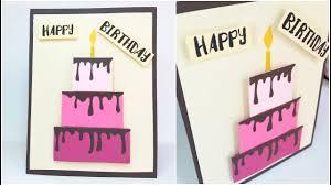 Happy Birthday Cake Card Design Ideas Diy 3d Handmade Cards For