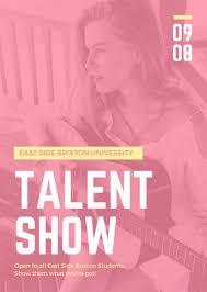 Talent Show Poster Designs Customize 127 Talent Show Flyer Templates Online Canva