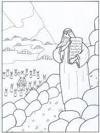 Kleurplaat Tien Geboden 6 12 Jaar Bijbels Opvoedennl