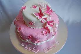 Butterfly Baby Shower Cakes Classic Style Sweet Butterfly Baby