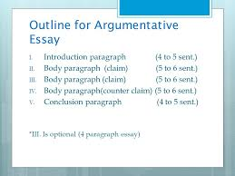 evidence based writing ppt  outline for argumentative essay
