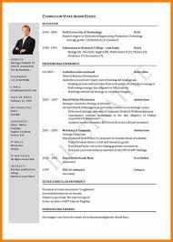 Cv Template University Student Student Cv Template Word Recent