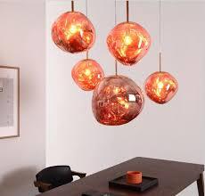 irregular glass lamp shade postmodern copper chandeliers cafe ceiling lights