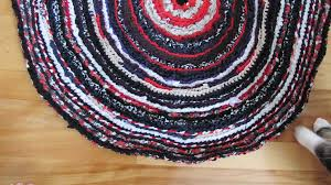 picture of oval rag rug made with a big crochet