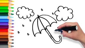 Small Picture Umbrella Coloring Pages For Kids Umbrella Color Art Youtube