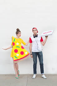 diy pizza slice and delivery boy costume89