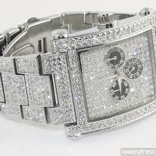 silver rectangle face full czech crystal mens watch jewelryfresh silver rectangle face full czech crystal mens watch