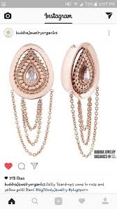 stretchedears jewelry buddhajewelryorganics rosegold teardrops xmaslistpic twitter 2okagsukos