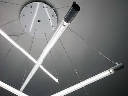 Hanging Fluorescent Light Tube Shangai Pendant Lamp With Dimmer By Martinelli Luce Design