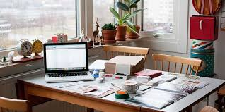 home office design inspiration. Home Office At Dinning Table. Usefull And Simple. Design Inspiration S