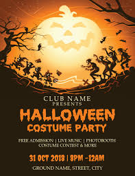 Halloween Costume Party Template Postermywall