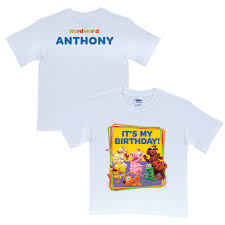 The Official Pbs Kids Shop Wordworld Its My Birthday White T Shirt